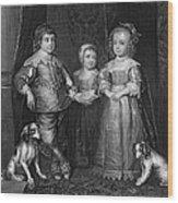 Children Of Charles I Wood Print