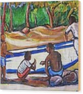 Children Of Corn Island Wood Print