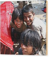 Children Of Labor In India Wood Print