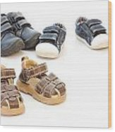 Childs Shoes Wood Print