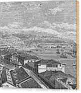 Chile: Valparaiso, 1865 Wood Print