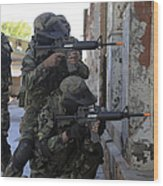 Chilean Marines Participate Wood Print