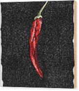Chilli Pepper, Woodcut Wood Print by Gary Hincks