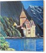 Chillon Castle Wood Print