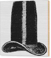 Chimney-pot Hat, C1850 Wood Print