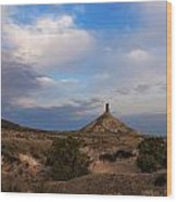 Chimney Rock On The Oregon Trail Wood Print