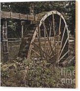 China Clay Waterwheel Wood Print