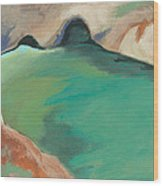 China Cove Wood Print by Laurel Porter-Gaylord