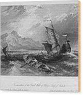 China: Gulf Of Bohai, 1843 Wood Print