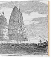 China: Junk, 1857 Wood Print