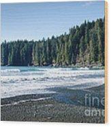 China Surf China Beach Juan De Fuca Provincial Park Bc Canada Wood Print