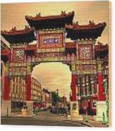 China Town Liverpool Wood Print