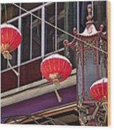 China Town San Francisco Wood Print by Kelley King