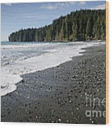 China Wave China Beach Juan De Fuca Provincial Park Vancouver Island Bc Wood Print