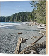China Wide China Beach Juan De Fuca Provincial Park Vancouver Island Bc Canada Wood Print by Andy Smy