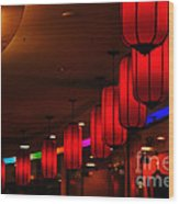 Chinatown - Colorful Shopping Mall Wood Print