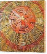 Chinese Basket Texture Wood Print