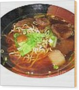 Chinese Beef Noodle Soup Wood Print