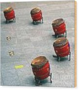Chinese Drum Set Wood Print