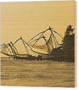 Chinese Fishing Nets Wood Print