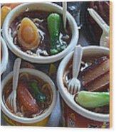 Chinese Food Miniatures 1 Wood Print