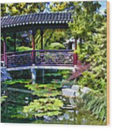 Chinese Gardens In Portland Oregon Wood Print
