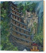 Chinese Hanging Temple Wood Print