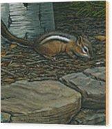 Chipmunk Wood Print
