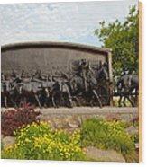 Chisholm Trail Monument Wood Print