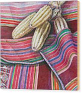 Choclos Entre Aguayos Wood Print