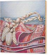 Choclos Envueltos En Aguayo Wood Print