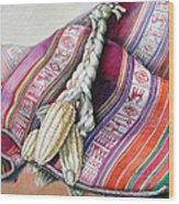 Choclos Sobre Aguayo Wood Print