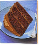 Chocolate Cake Wood Print