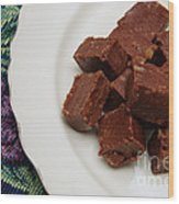 Chocolate Cheese With Nuts Wood Print