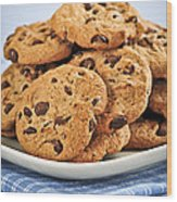 Chocolate Chip Cookies Wood Print