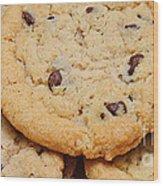 Chocolate Chip Cookies Pano Wood Print