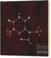 Chocolate Molecule Wood Print by Pet Serrano