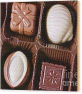 Chocolates Closeup Wood Print