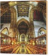 Choir Section Vertorama Wood Print