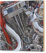 Chopper Engine Wood Print
