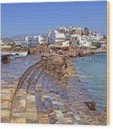 Chora Naxos Wood Print