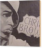 Chris Brown Wood Print