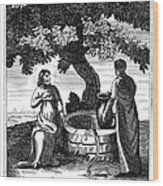Christ & Woman Of Samaria Wood Print