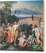 Christ Appears Wood Print