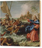 Christ At The Sea Of Galilee Wood Print