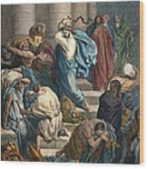 Christ At The Temple Wood Print