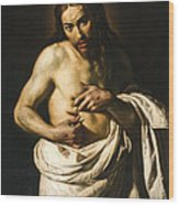 Christ Displaying His Wounds Wood Print