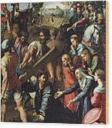 Christ Falls On The Way To Calvary Wood Print
