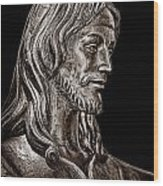 Christ In Bronze - Bw Wood Print