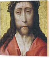 Christ In Crown Of Thorns Wood Print